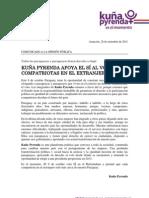 Comunicado Kuña Pyrenda 28-09-2011