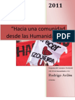 Programa Consejero Territorial CRECER de Humanidades
