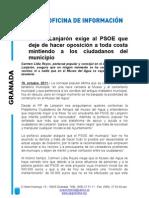 El PP de Lanjarón exige al PSOE que deje de hacer oposición a toda costa mintiendo a los ciudadanos del municipio