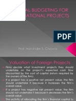 Capital Budgeting for International Projects