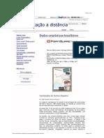 Dados estatísticos brasileiros - Educação a distância