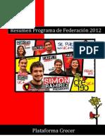 Resumen Programa de Federación Crecer 2012