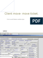 Client Move- Move Ticket
