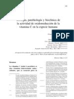Biologia Patobiologia Bio Clinic A de La Actividad de Oxido Reduccion de La Vitamina c en Especie Humana