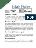 Boletin tecnico señal digital