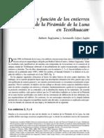 Simbolismo y Funcion de Los Entierros Dedicatonos La Piramide de La Luna en Teotihuacan [Saburo Sugiyama y Leonardo Lopez Lujan]