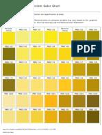 Pantone Color Chart (PMS)