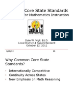 CCSS and Implication for Instruction October 11 HS