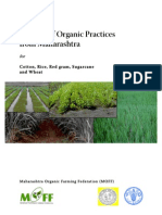 Package of Organic Practices for Cotton, Rice, Red gram, Sugarcane and Wheat