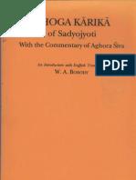 Bhoga Karika of Sadyojyoti (W.a. Borody)