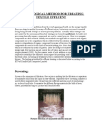 THE BIOLOGICAL METHOD FOR TREATING TEXTILE EFFLUENT