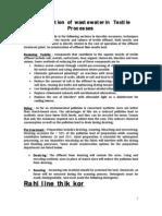 minimization of effluent