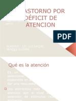TRASTORNO POR DÉFICIT DE ATENCION