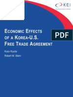 Economic Effects of a Korea-U.S. Free Trade Agreement by Kozo Kiyota and Robert M. Stern
