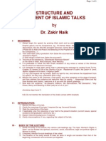 DrZakirNaik-STRUCTURE AND CONTENT OF ISLAMIC TALKS