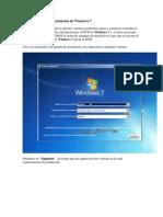 Pasos previos a la instalación de Windows 7