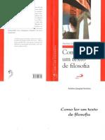 Como Ler Um Texto de Filosofia - Antonio Joaquim Severino