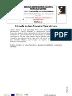 Fórmula do juro simples Taxa de juro