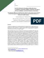 Medición de la eficiencia de plantas hidroeléctricas latinoamericanas mediante el método análisis envolvente de datos y comparación de los resultados con los de frontera estocástica