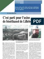 C'est Parti Pour l'Usine de Bioéthanol de Lillebonne