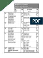 IB May 2012 Exam Schedule