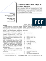 An Optimal Linear Control Design for Nonlinear Systems