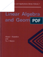Linear Algebra and Geometry Algebra Logic and Applications