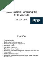 Basic Joomla