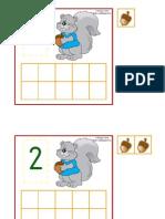 Squirrel Ten Frames
