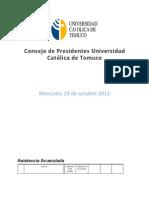Acta consejo 19-10-2011