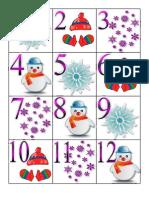 Winter Calendar Pieces