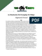 Freud, Sigmund - La Disolucion del complejo de Edipo