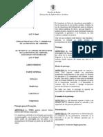 Ley 8465 Cod Proc Civil Comercial Cba