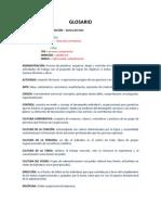 Glosario - Administración [UNIDAD I]