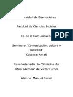 Reseña Turner Manuel Bernal