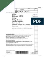 Edexcel A-LEVEL BIO3 January 2007 QP