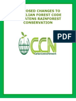 Proposed Changes to Brazilian Forest Code Threatens Rain Forest Conservation