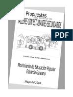 Propuesta Talleres Para Secundarios -Movimiento de Educación Popular Eduardo Galeano (2008)