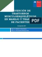 PREVENCIÓN DE TRASTORNOS MUSCULOESQUELÉTICOS EN MANEJO Y TRASLADO