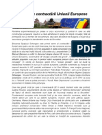 Semne   ale contractării Uniunii Europene