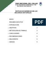 CARACTERISTICAS ECONÓMICAS DE LOS RECURSOS NATURALES
