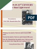 EINSTEIN in 21ST Faster Than Light Travel (Ver2003)