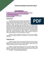 Entitas Pelaporan Keuangan Di Sektor Publik