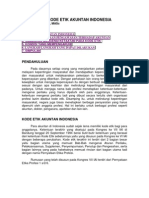 Penegakan Kode Etik Akuntan Indonesia