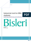 Industrial Visit to Bisleri plant by JIMS BBA students | Best management Institute in Delhi/NCR