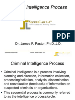Criminal Intelligence Process