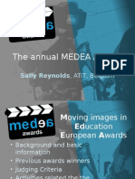 MEDEA Awards Presentation Sally Reynolds