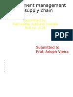 Procuremeent Management in Supply Chain