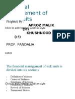 Financial Management of Sick Units