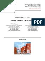 M. Ponzo, V. Stoppa, A simple model of nepotism, Università della Calabria